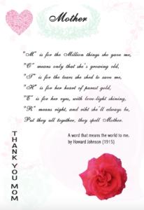 Muttertagskarte Mothersday greeting card Freebie