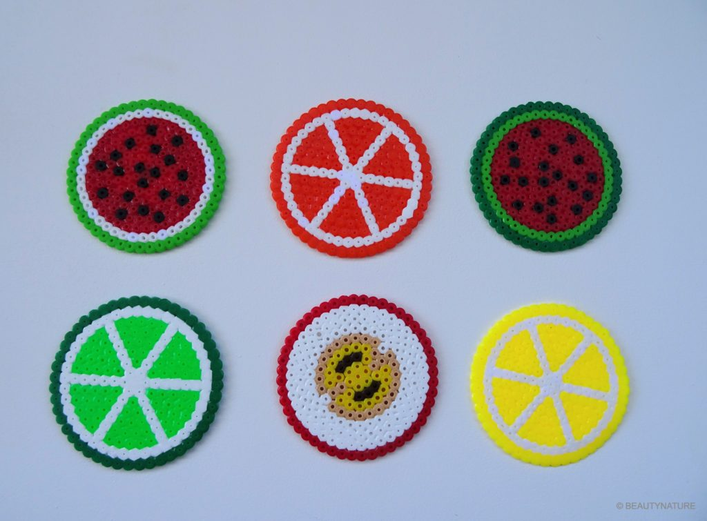 DIY Pearler Beads fruits Bügelperlen