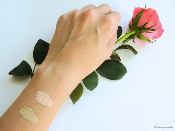 Here are the swatches, but as I said the now look a little more extreme than if they were spread over my face. I like to use in everyday life, especially when things have to go a little faster to it still to be created in time in the course ^^ Have you heard of the new Manhattan Fresher Skin Foundation