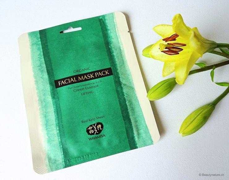 Whamisa Organic Facial Mask Pack Green Essence Lifting