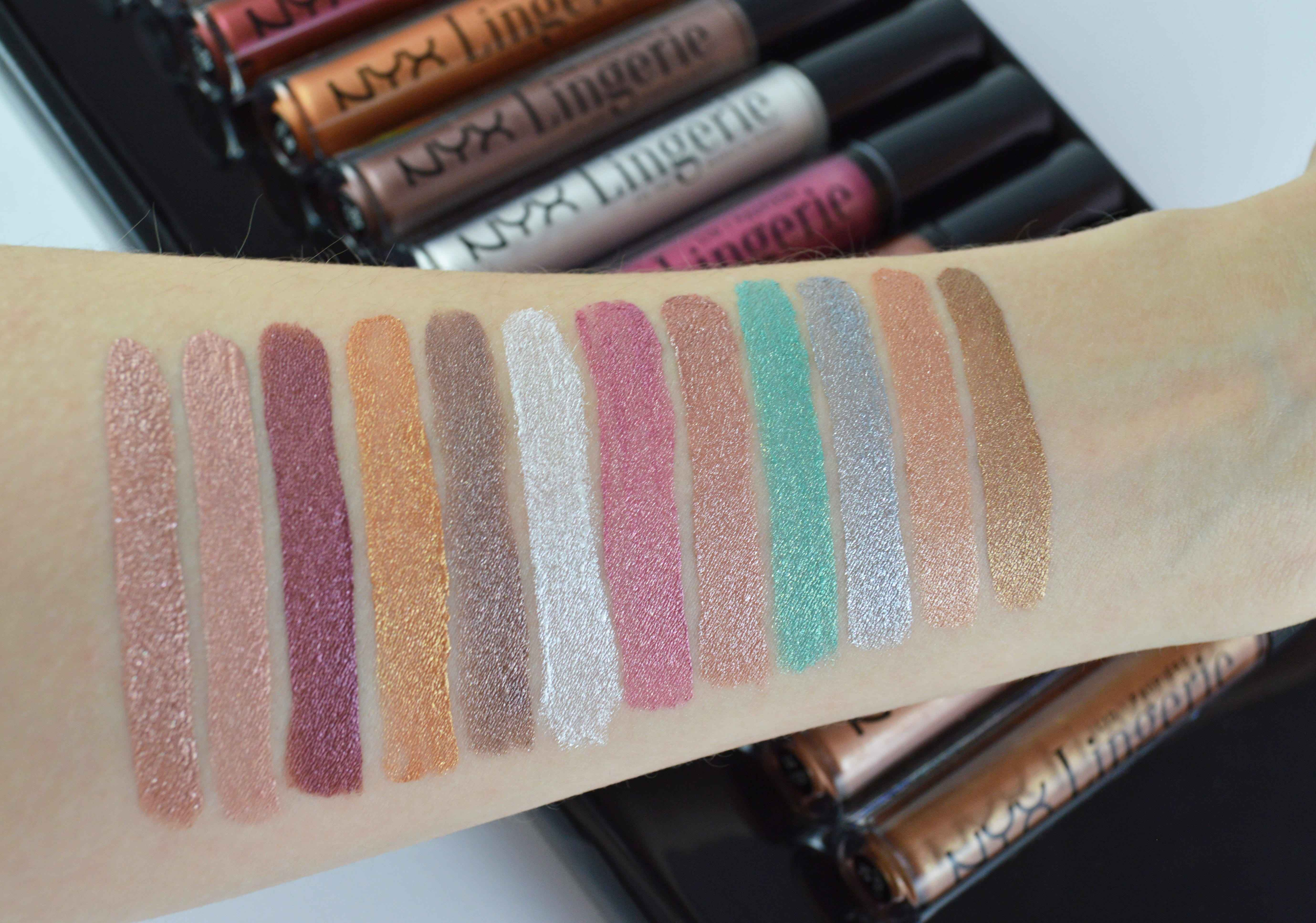 NYX Lid Lingerie Swatches