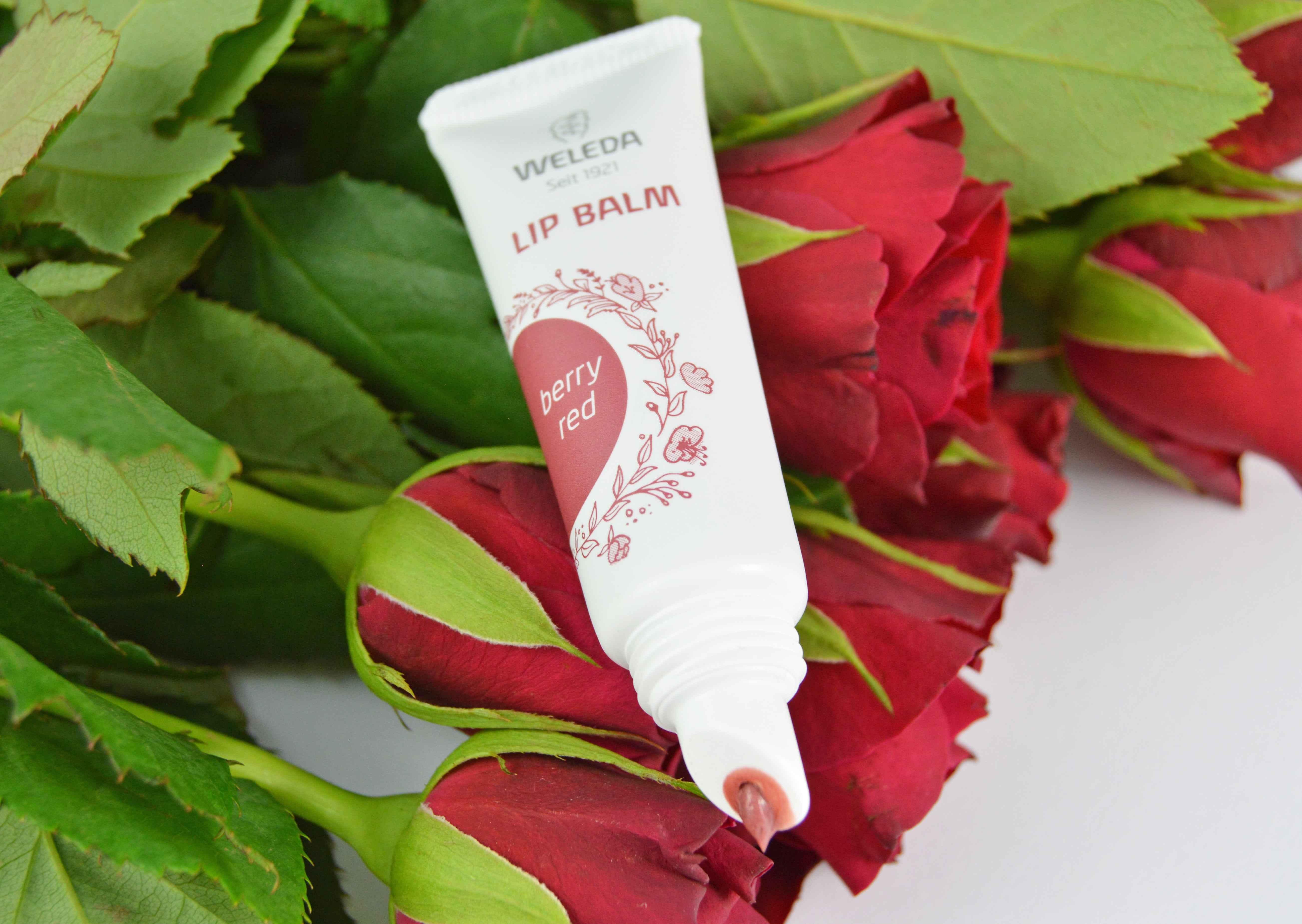 Weleda lip balm berry red