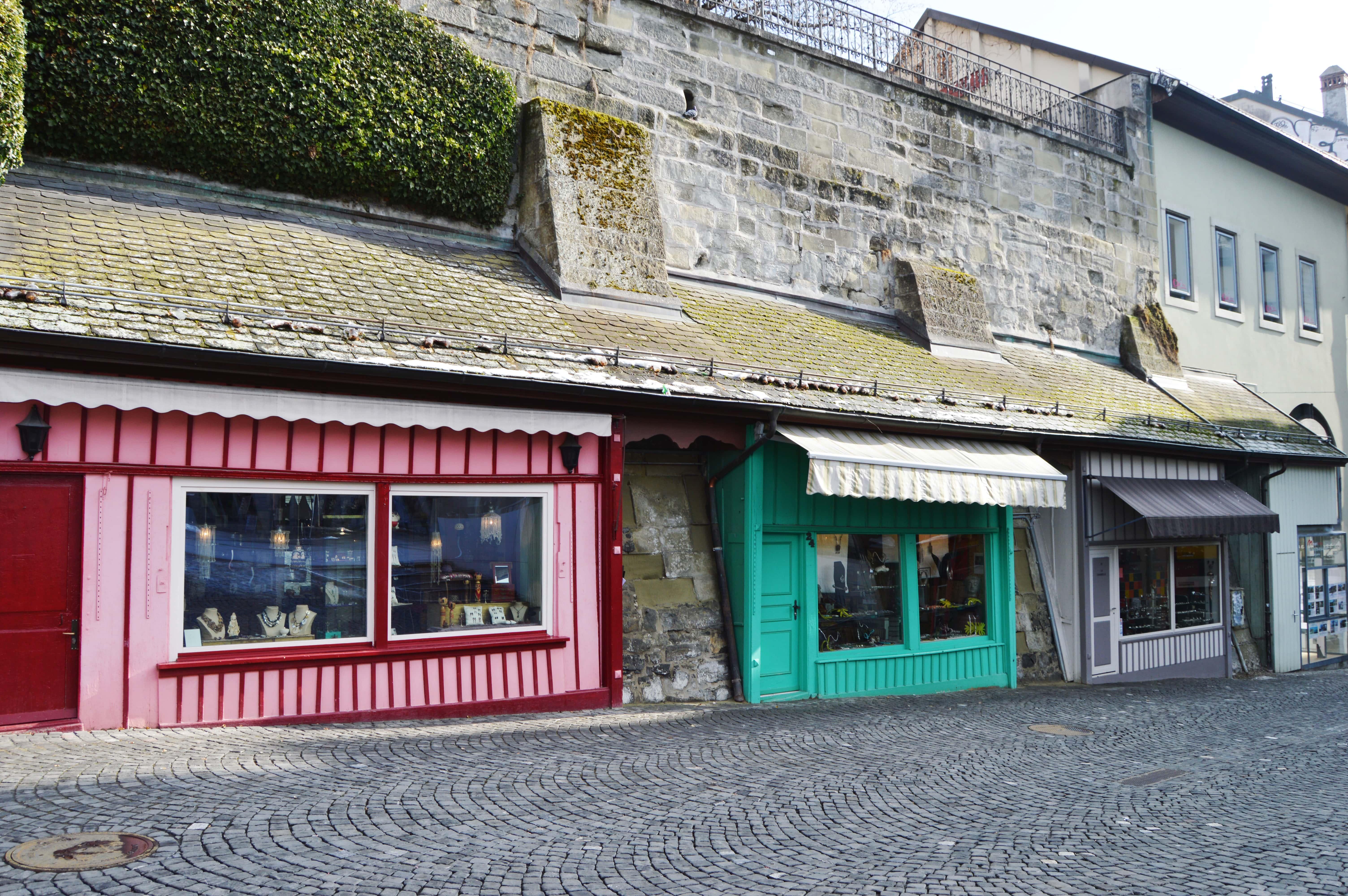 kleine Läden Lausanne
