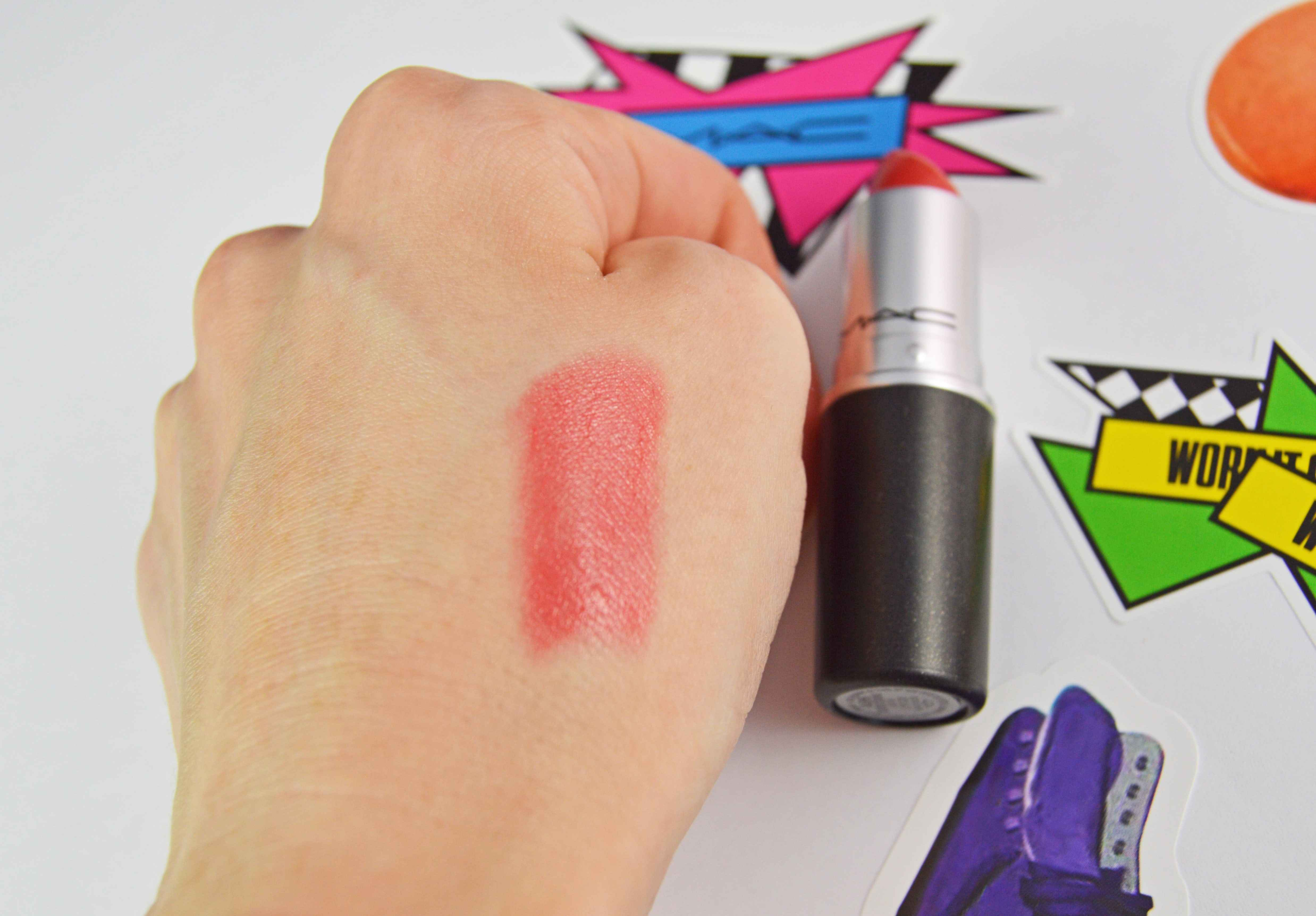 MAC Work it out Lipstick Swatch-min