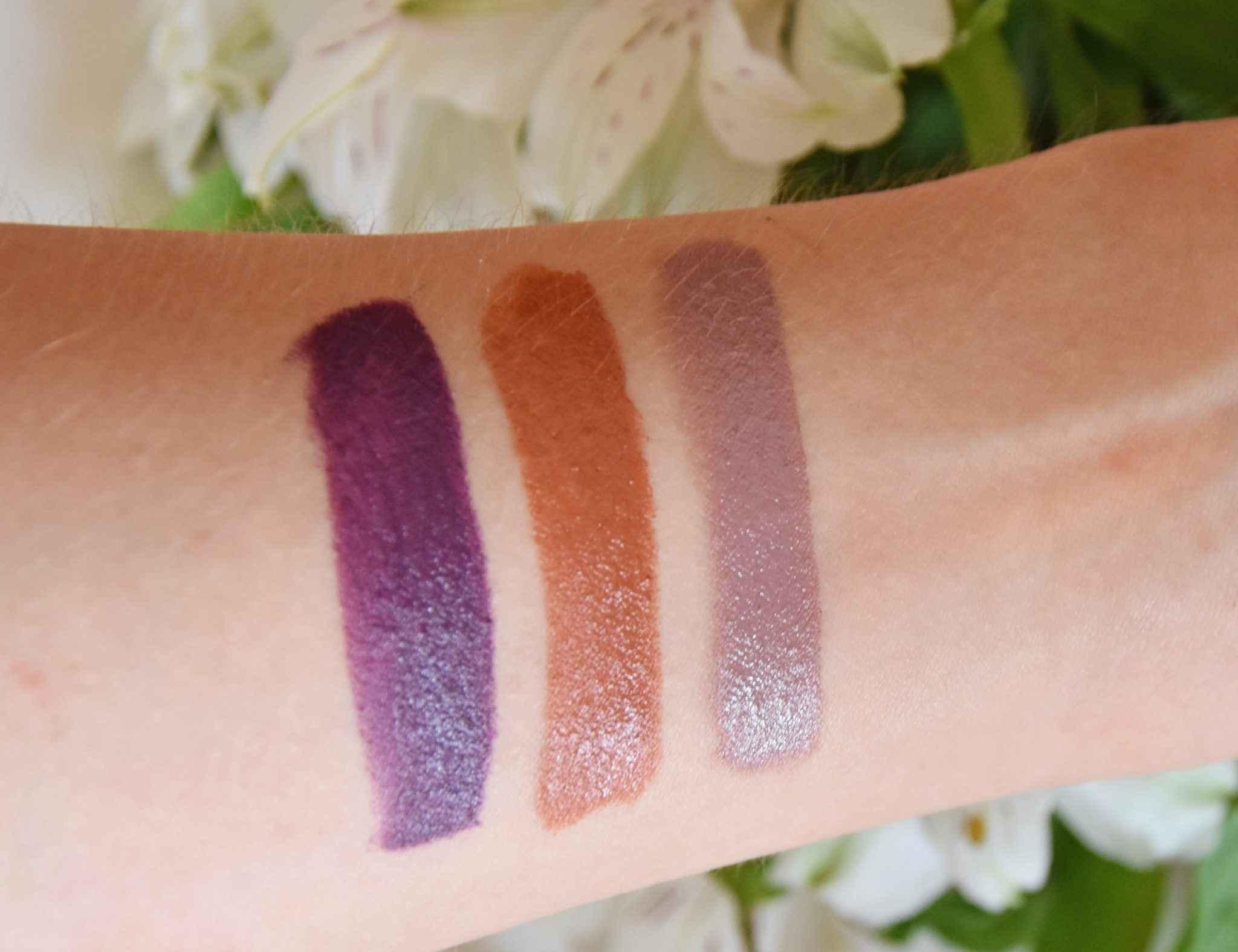 NARS Fall 2017 swatch lipsticks