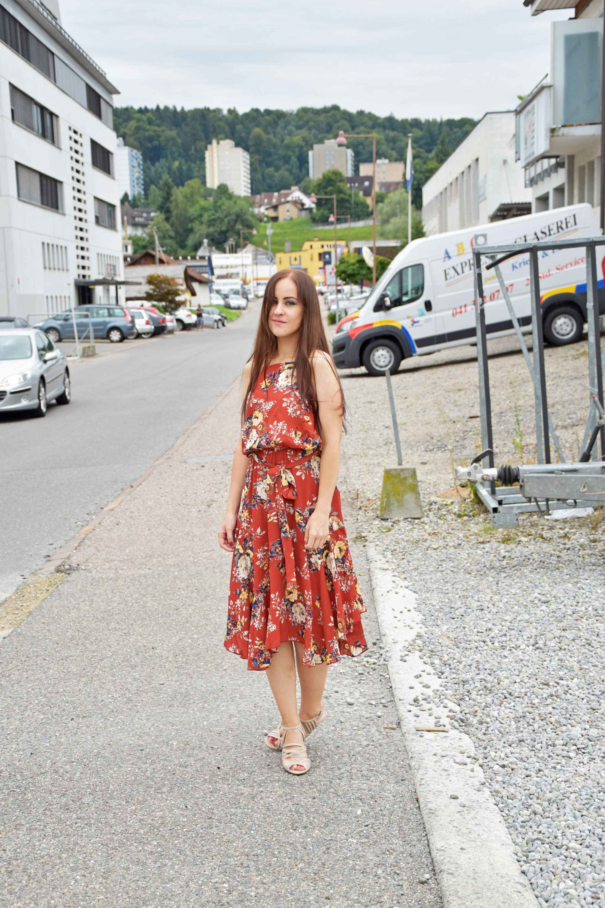 Flower Summer Dress Outfit
