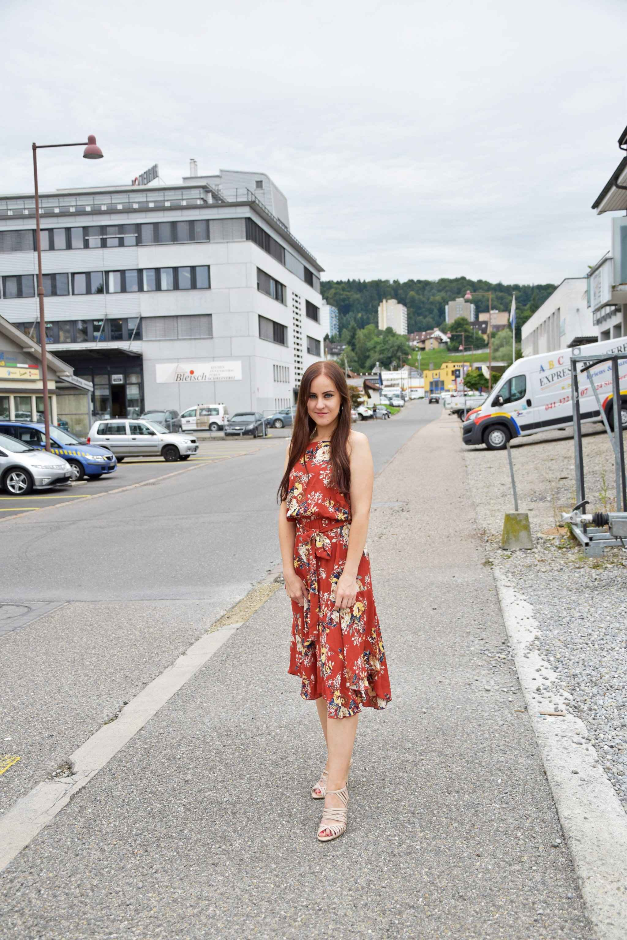 Flower Summer Dress Outfit, Fashion, Fashionblogger, Floral Print, ootd