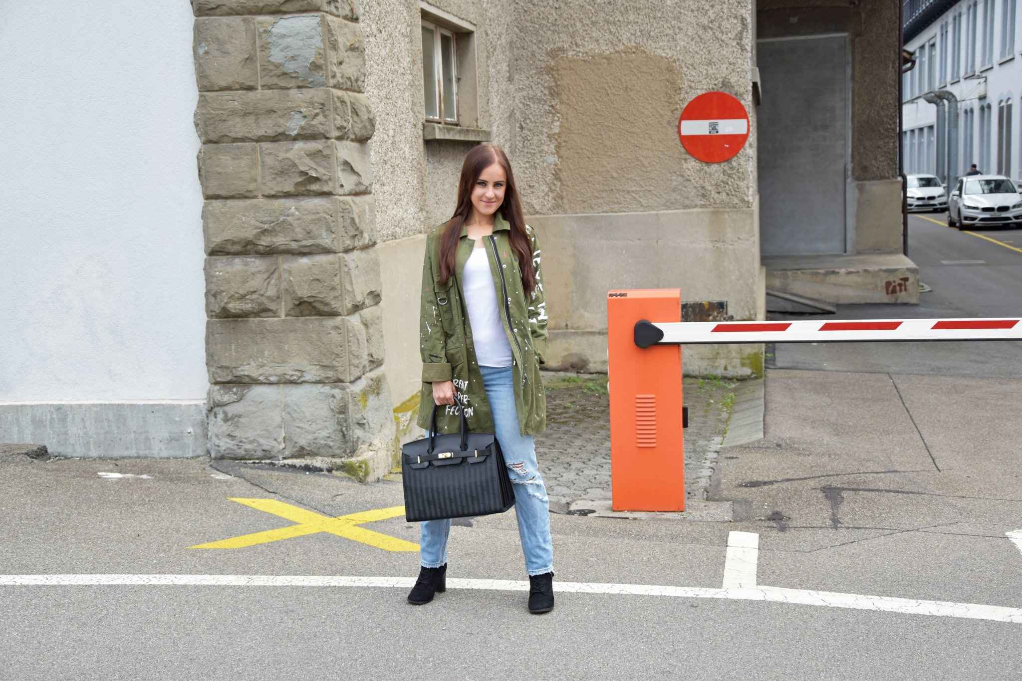 Parka Zara Jeans Look Outfit Fashionblogger