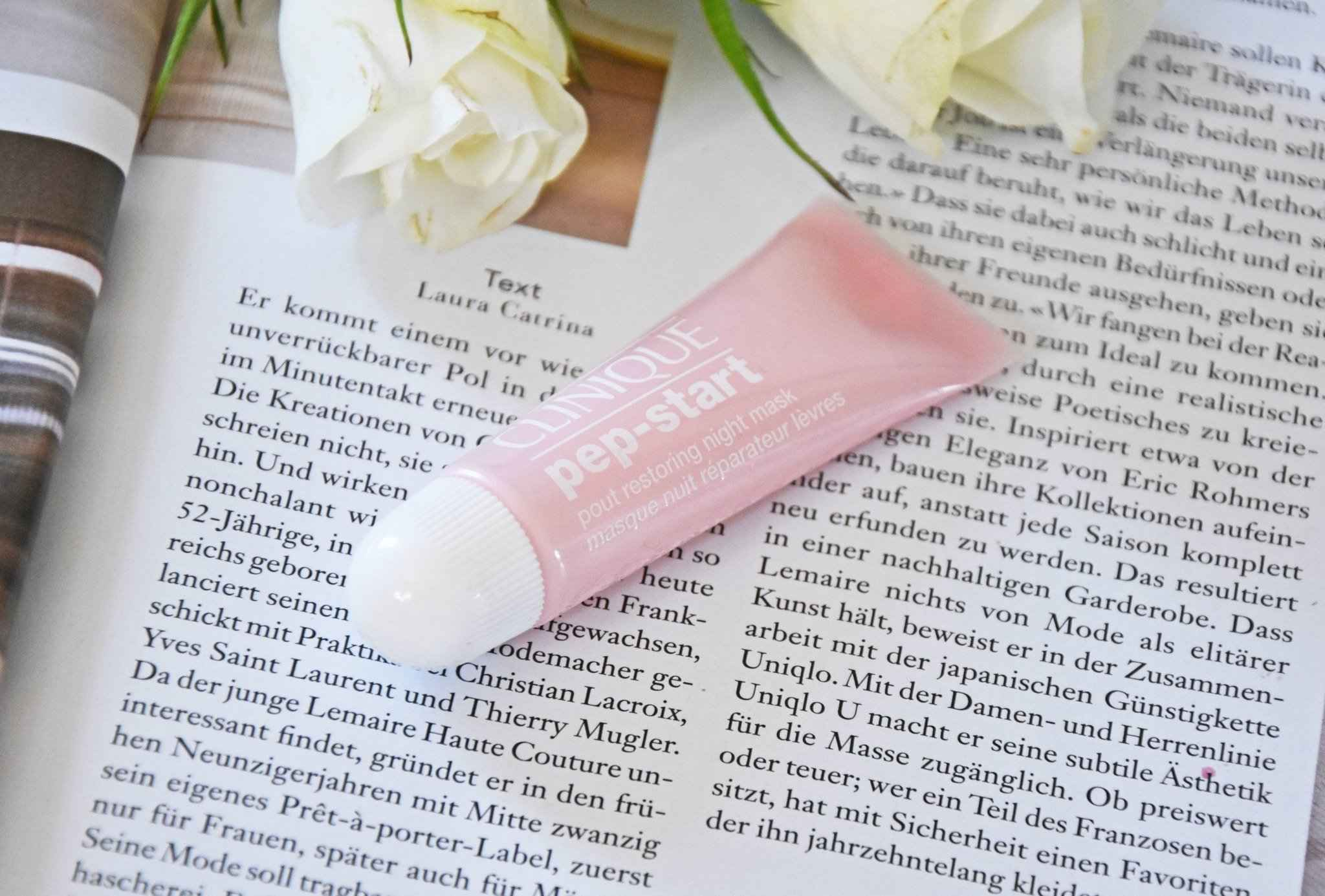 cliniqeue pep start Bubble Mask, Pout Restoring Night Mask und Pout Perfecting Balm