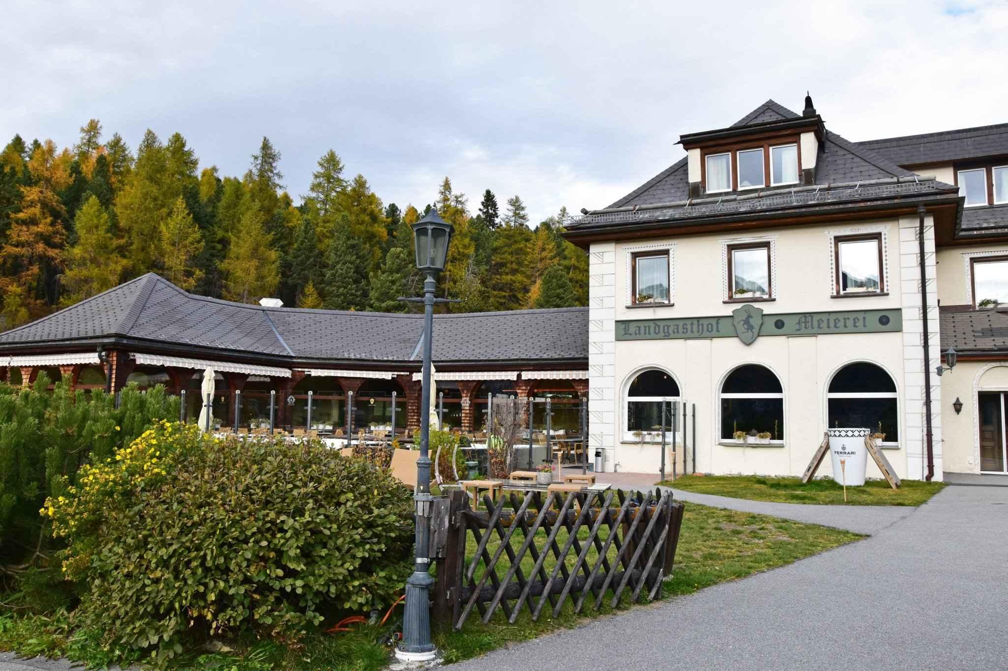 Hotelcard Meierei St. Moritz