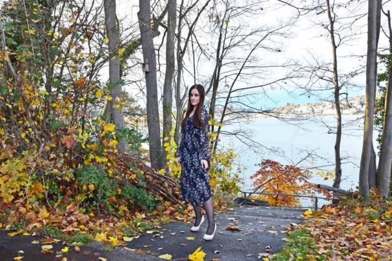 Autumn flower dress look ootd fashionblogger