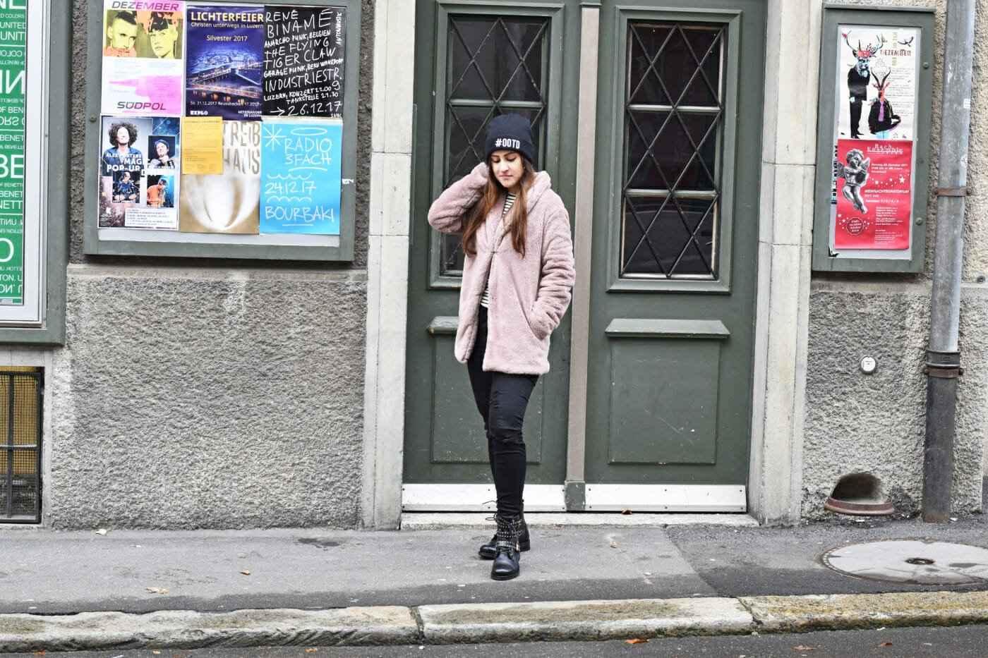 Fur Coat Boots Look Fashionblogger