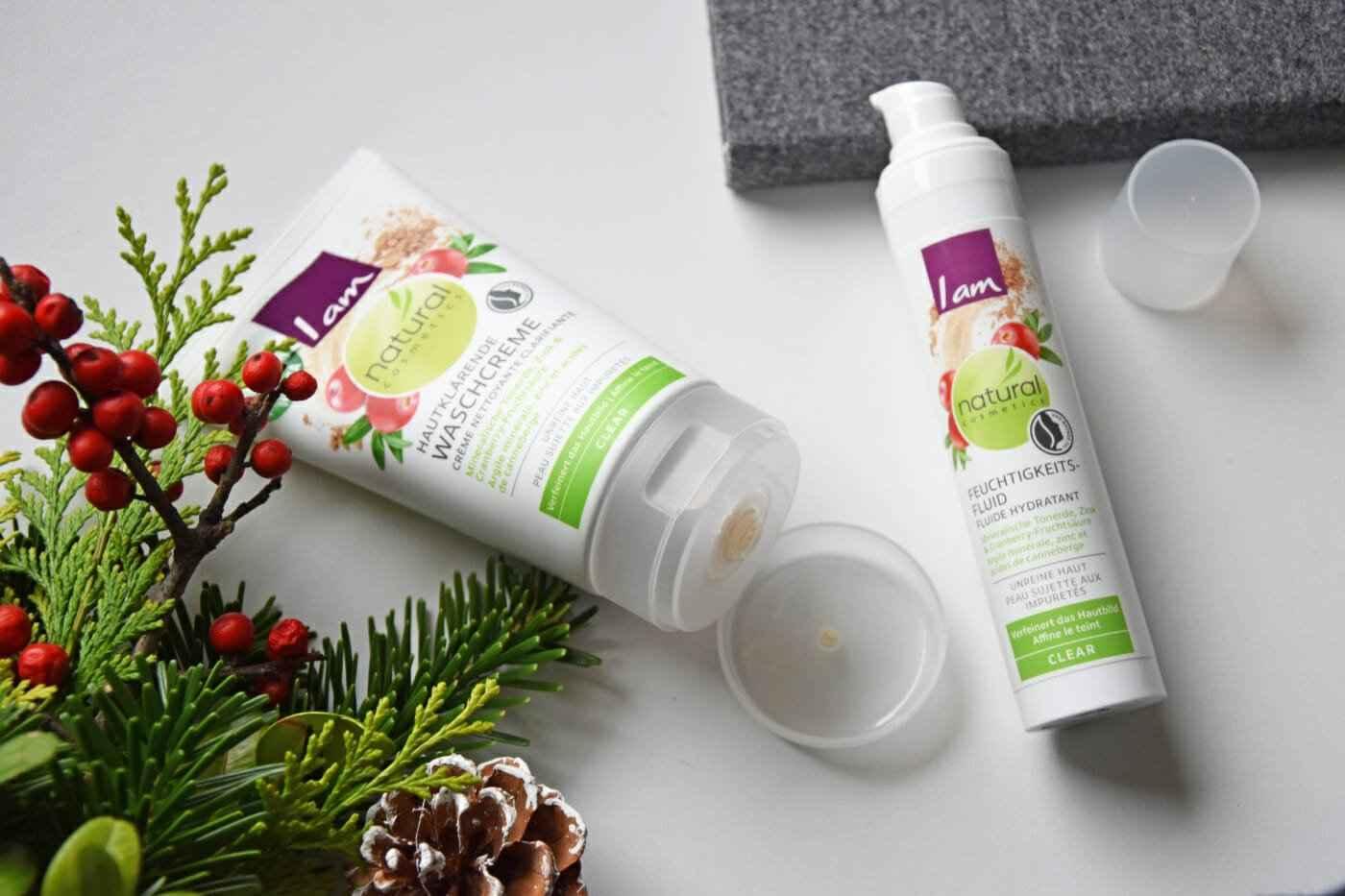 I am natural cosmetic - Hautklärende Waschcreme & Feuchtigkeitsfluid Produkte Test