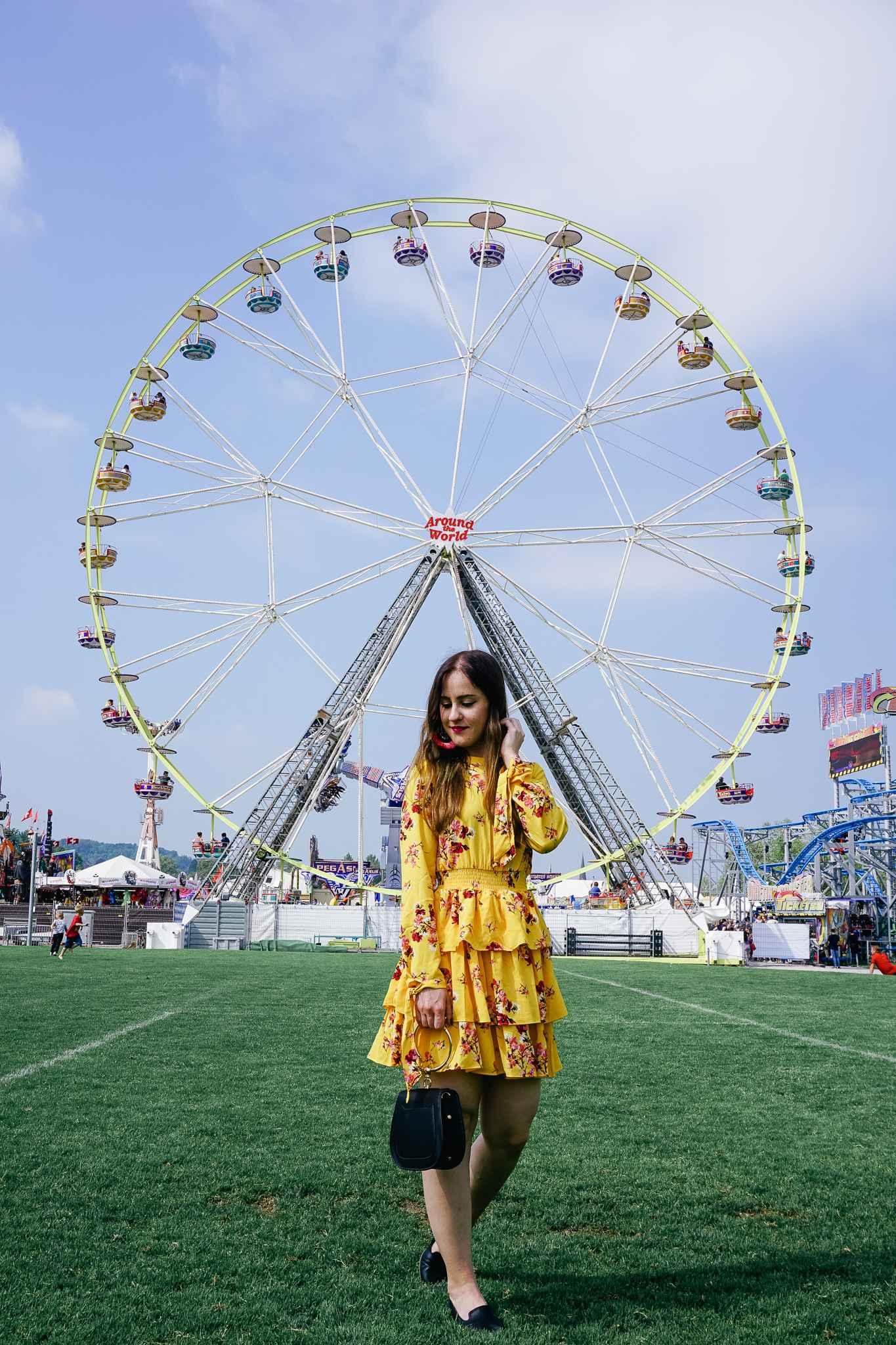 flower dress coachella ferrywheel