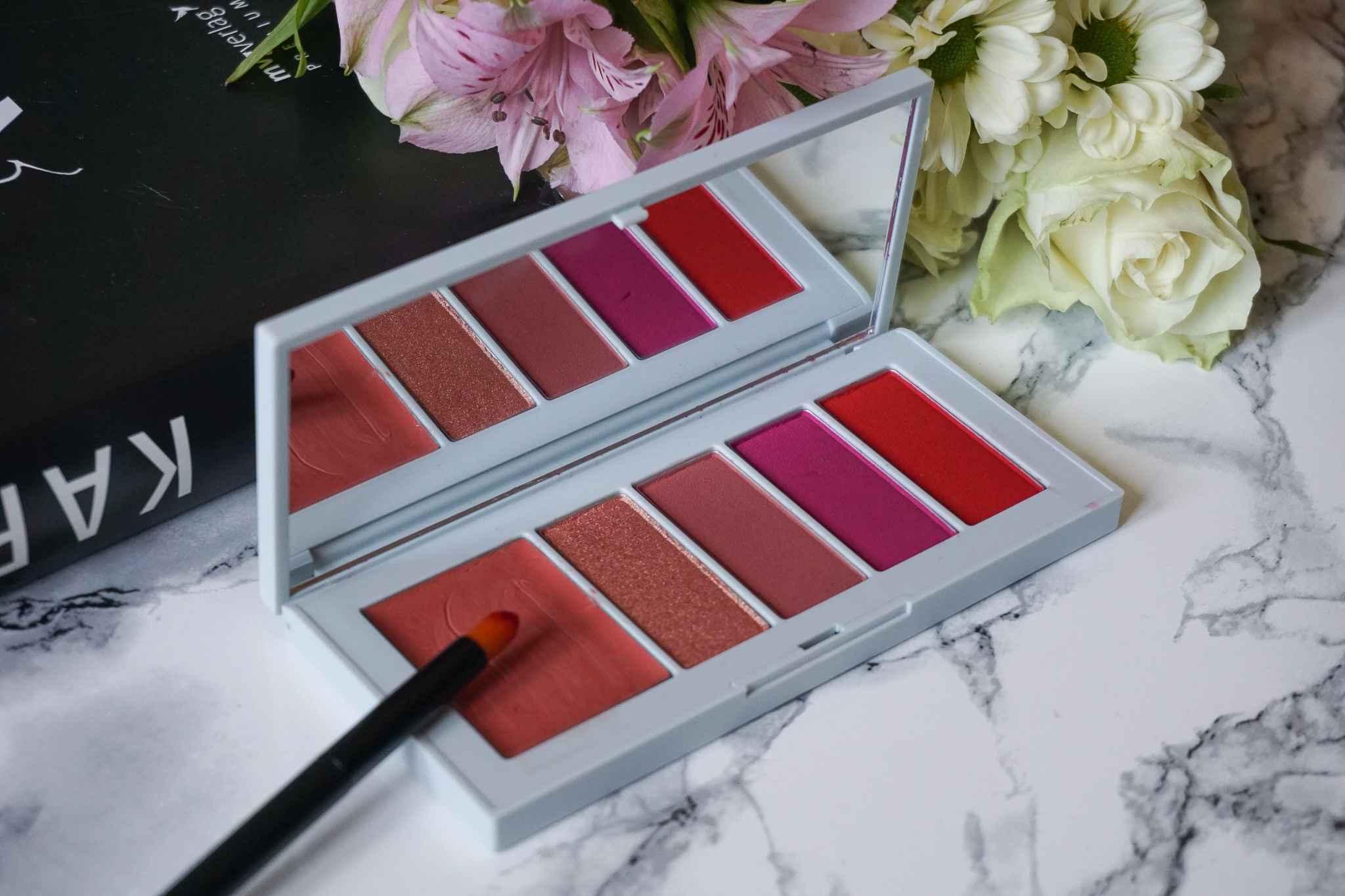 nars x erdem poison rose lip powder palette