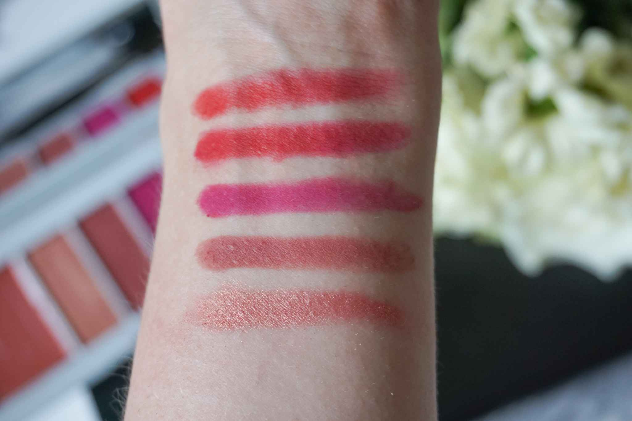 nars x erdem poison rose lip powder palette swatches