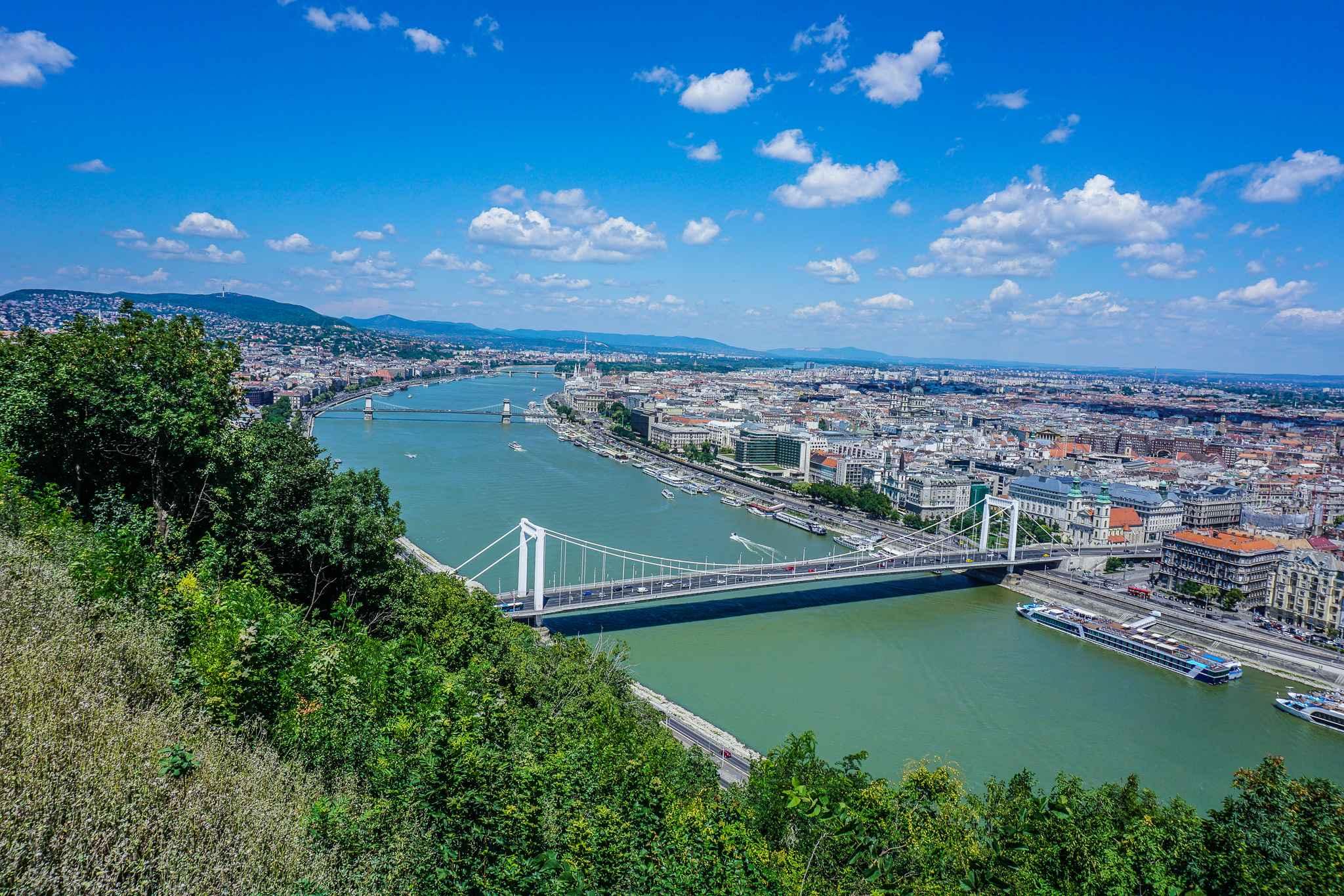 Aussicht Gellertberg Budapest
