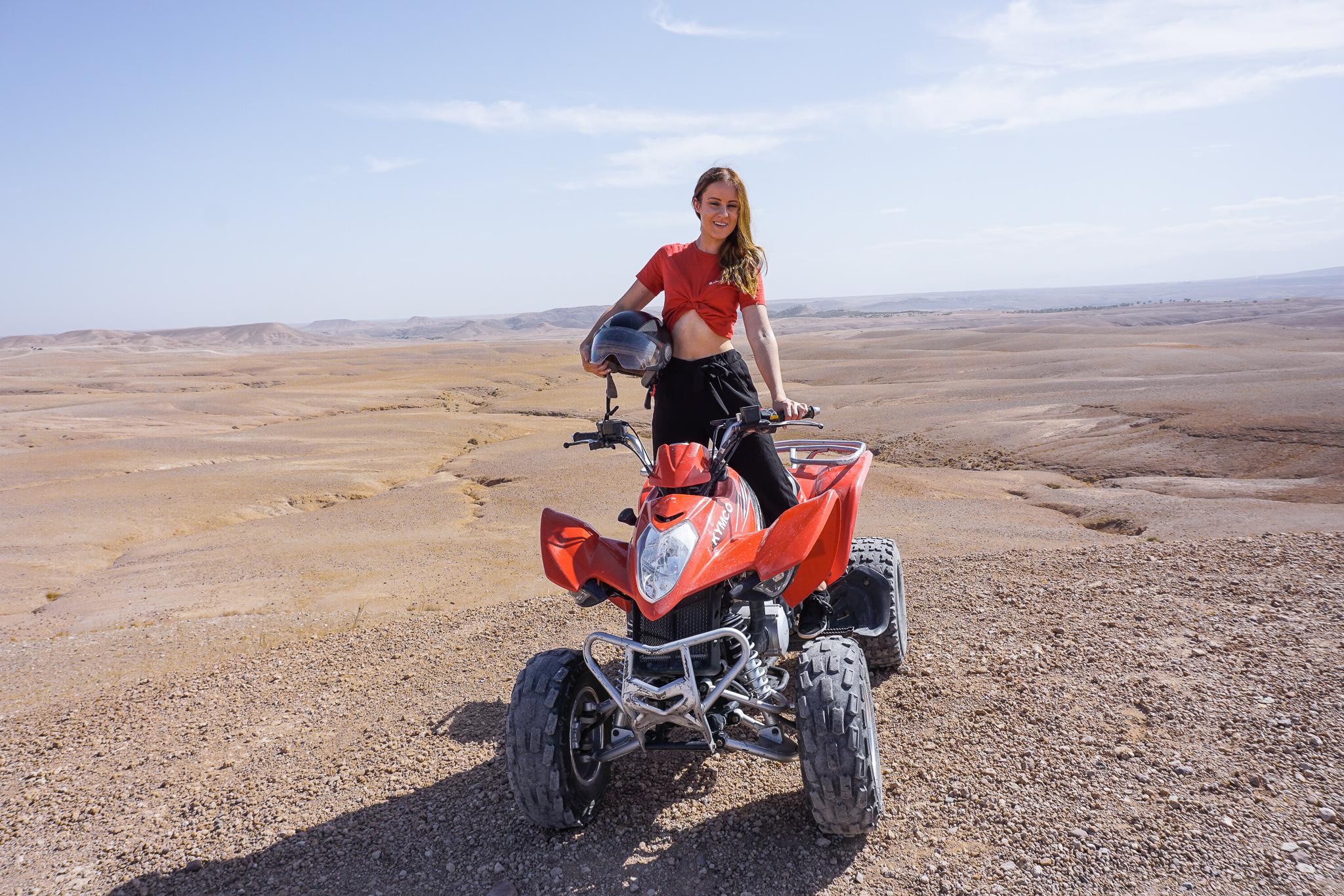 quad girl desert