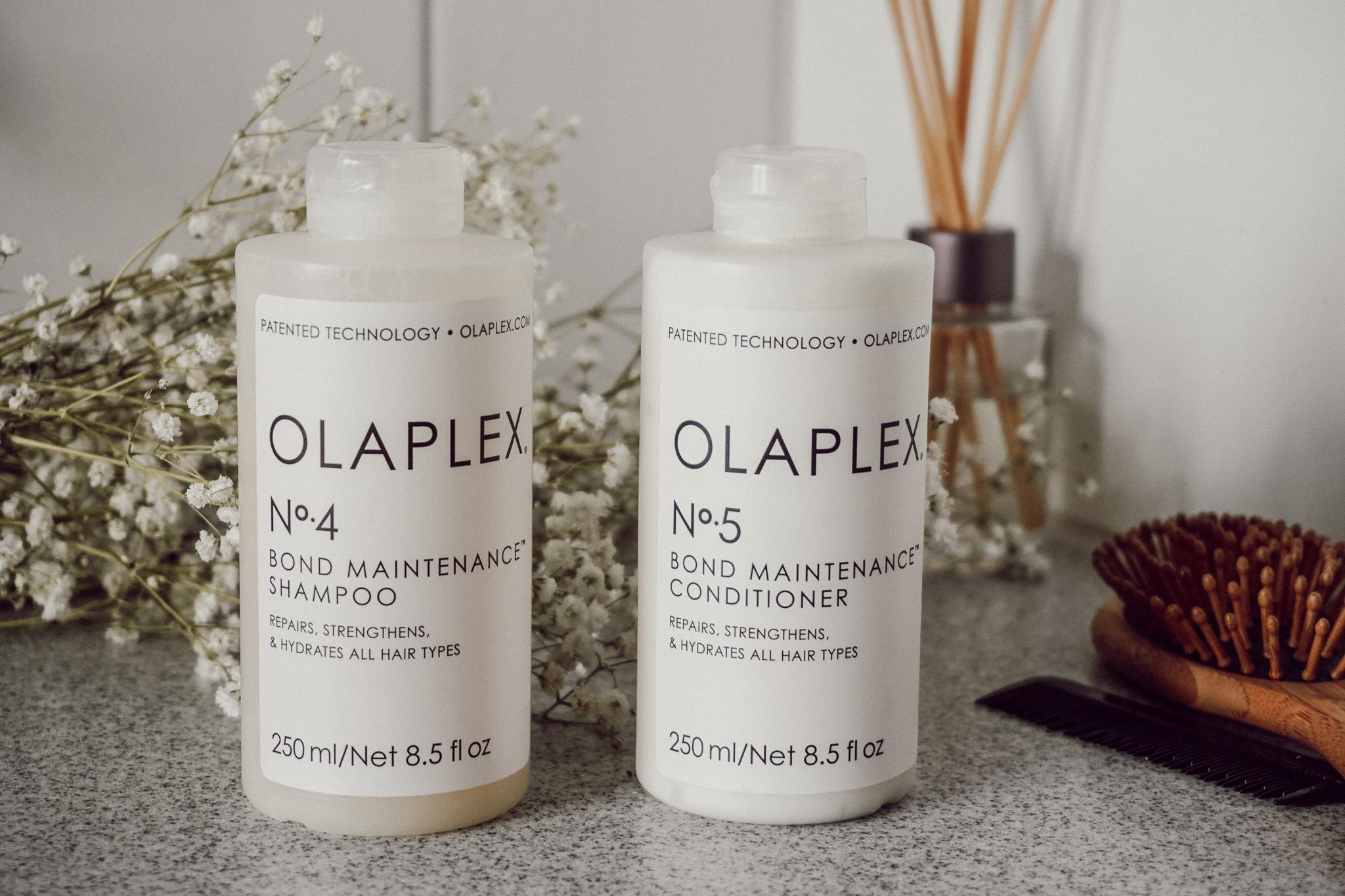 Olaplex N°4 shampoo Olaplex N°5 conditioner