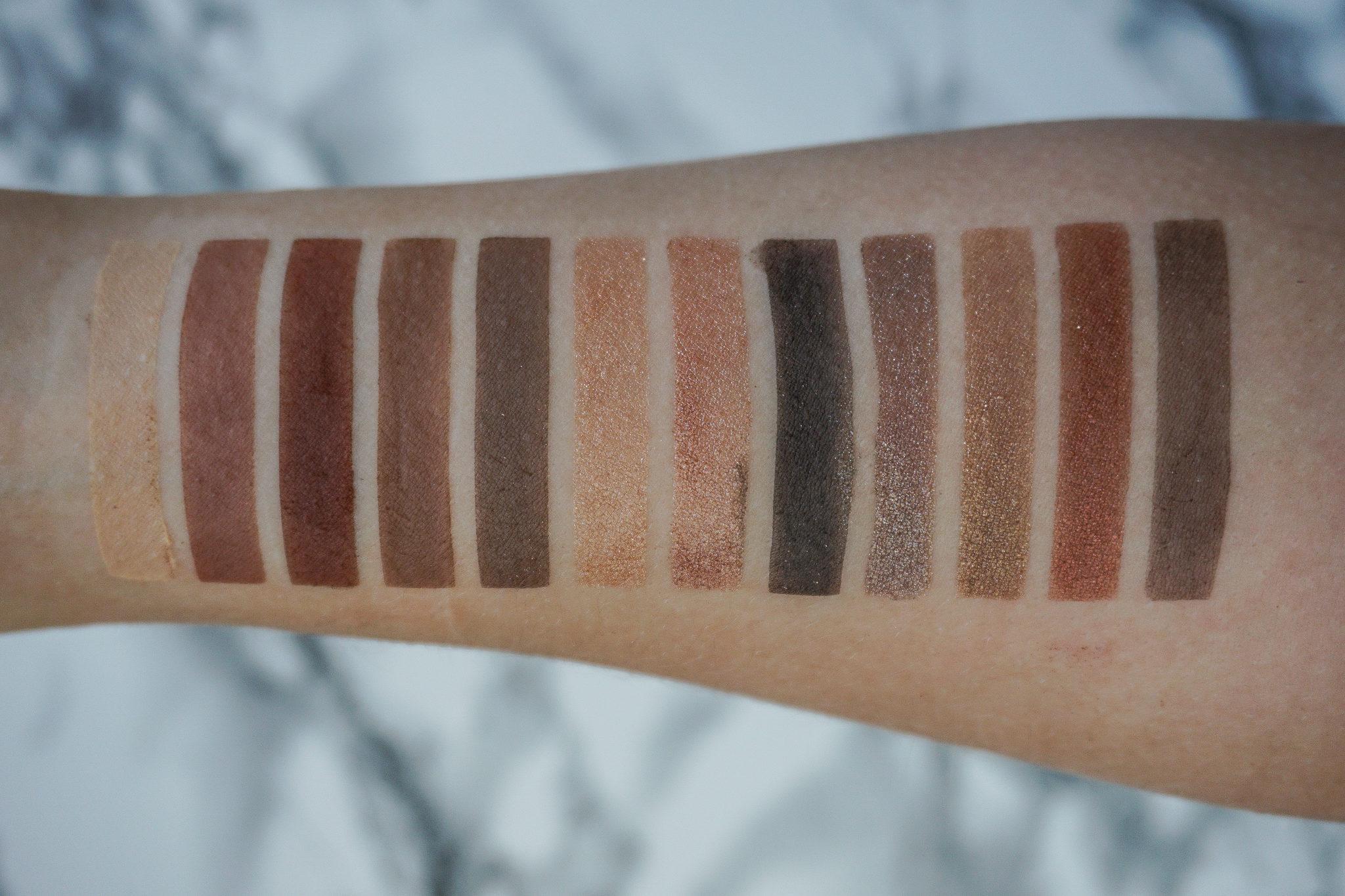 NARS Skin Deep Eye Palette Swatches
