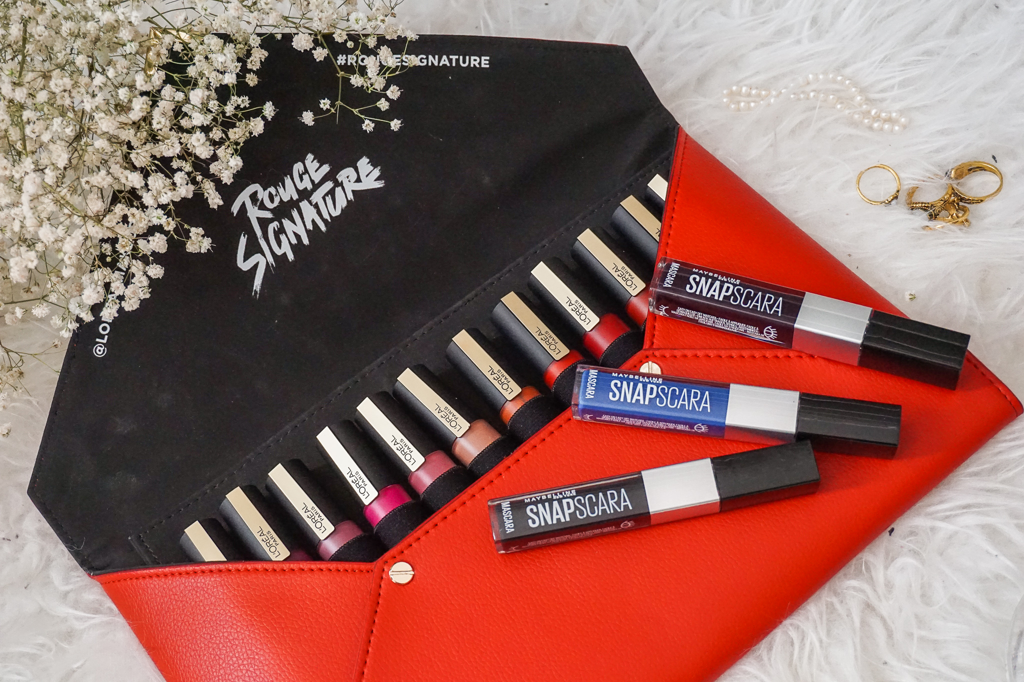 Makeup L'oreal rouge signature ink maybellin Snapscara