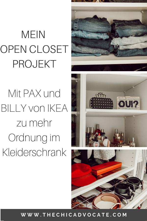 open closet ikea pax billy