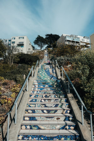 San Francisco City Guide Tiled Steps
