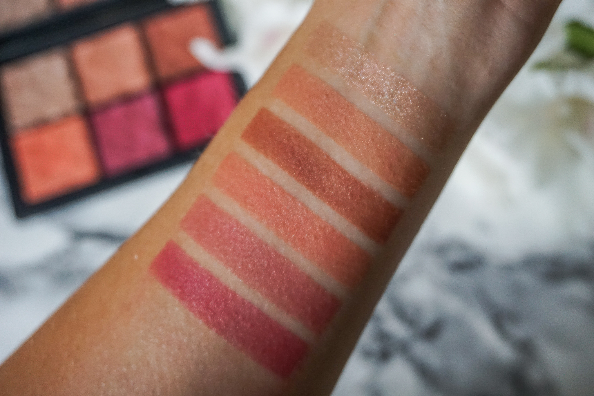 NARS Exposed Cheek Palette Swatches